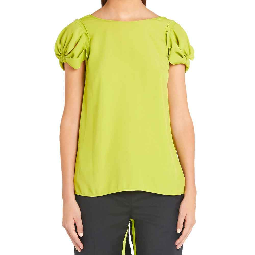No. 21 Bow Back Short Sleeve Top Tops No. 21