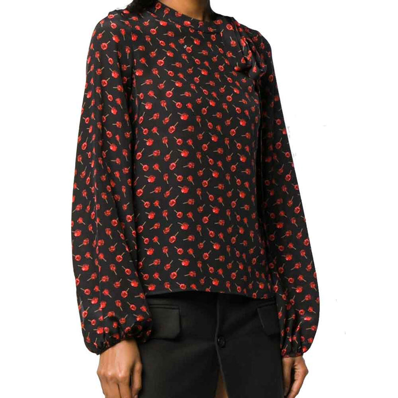 No. 21 Floral Round Neck Blouse