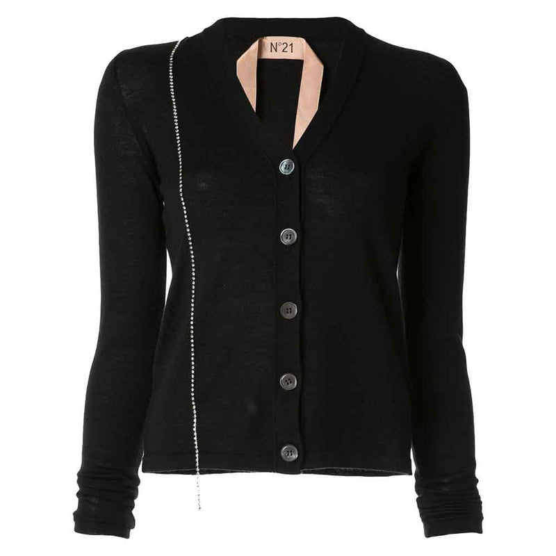 No. 21 Embellished Fitted Cardigan