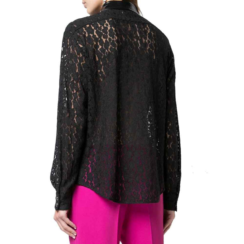 No. 21 Lace Snap Front  Shirt