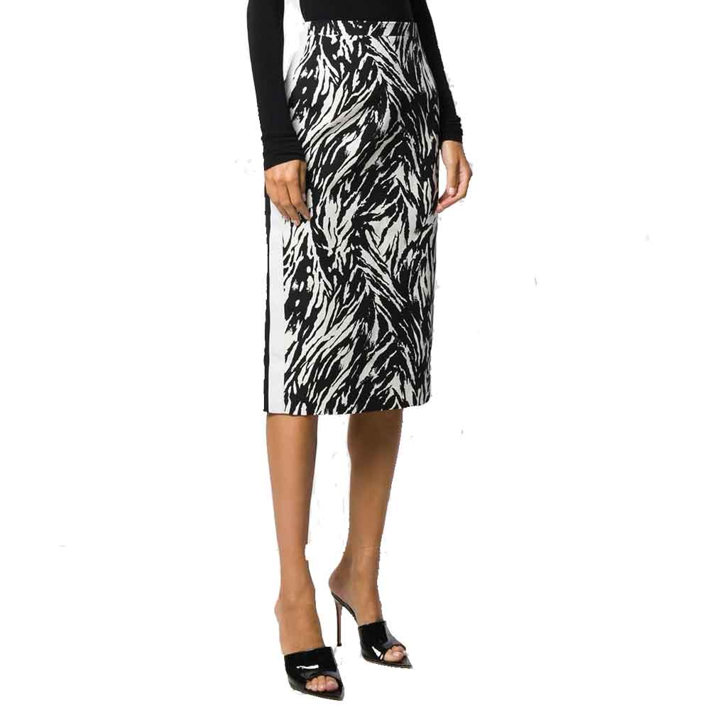 No. 21 Zebra Print Pencil Skirt