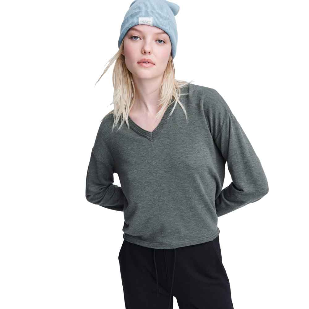 Rag & Bone Long-Sleeve Surplus Top
