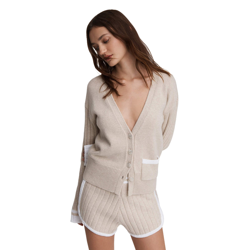 Rag & Bone Cora Ivory Sweater Coat