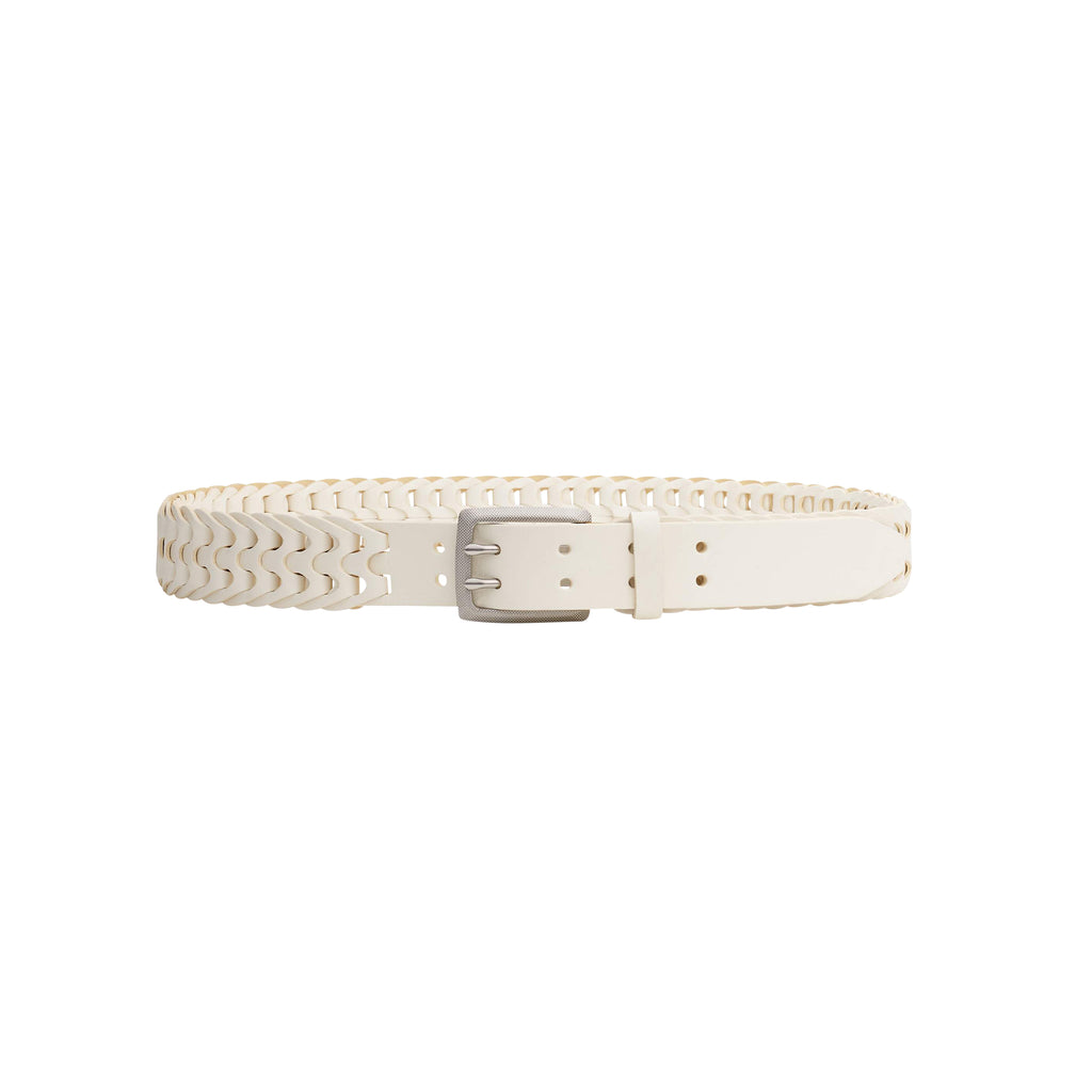 Rag & Bone White Woven South Dress Belt