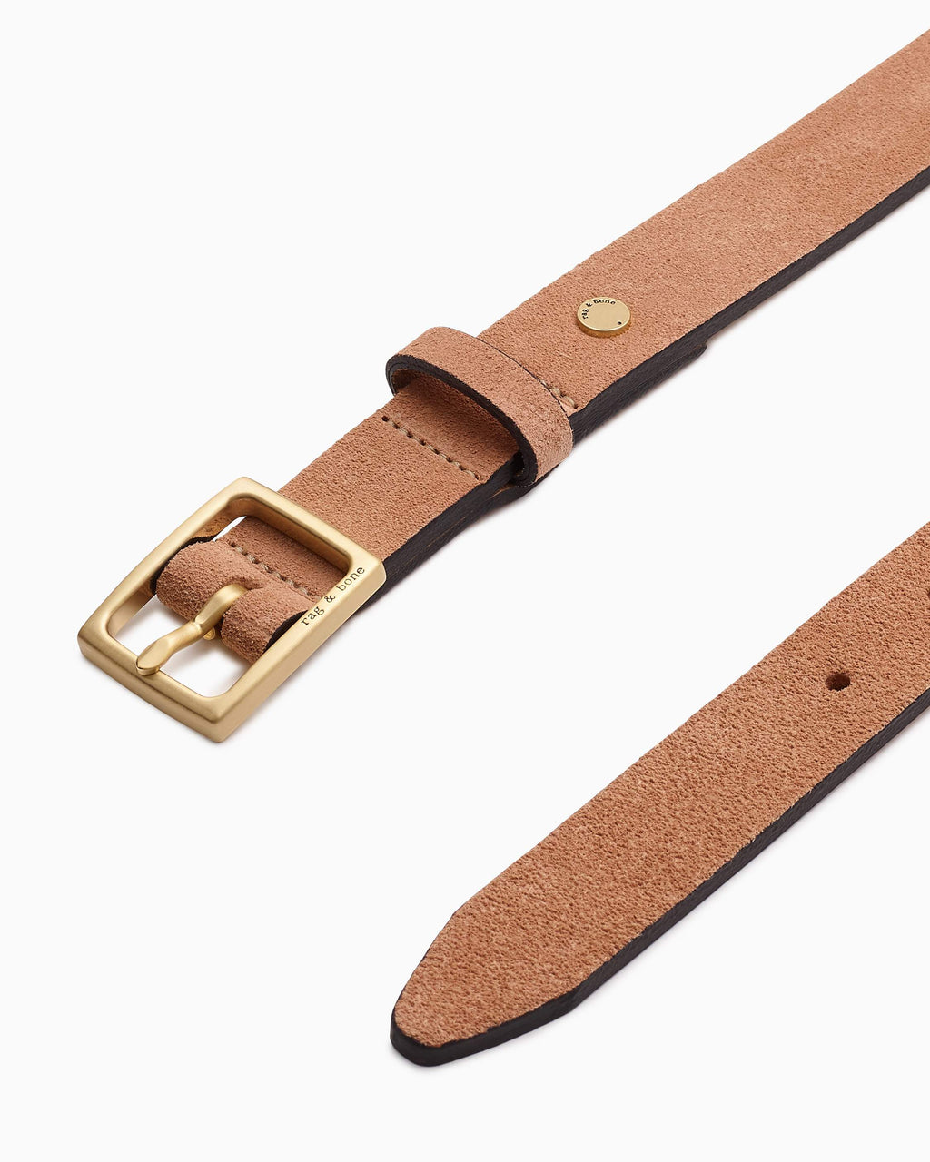 Rag & bone baby boyfriend belt in blush suede