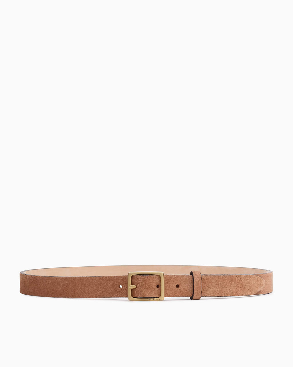 Rag & bone baby boyfriend belt in blush suede 2