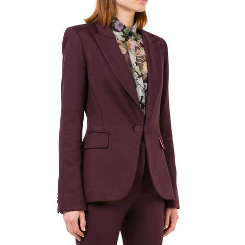 Adam Lippes Jackets 6 / BURGUNDY Adam Lippes Double Face Wool Blazer