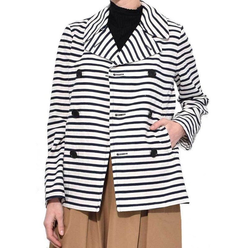 Aspesi Double Breasted Striped Jacket Jackets Alberto Aspesi