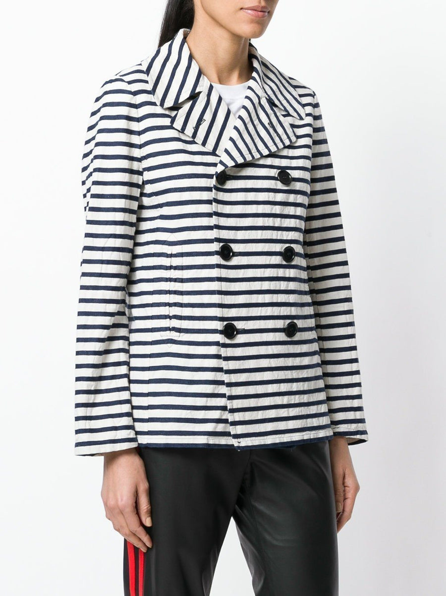 best service aaefa a23c2 Aspesi Double Breasted Striped Jacket