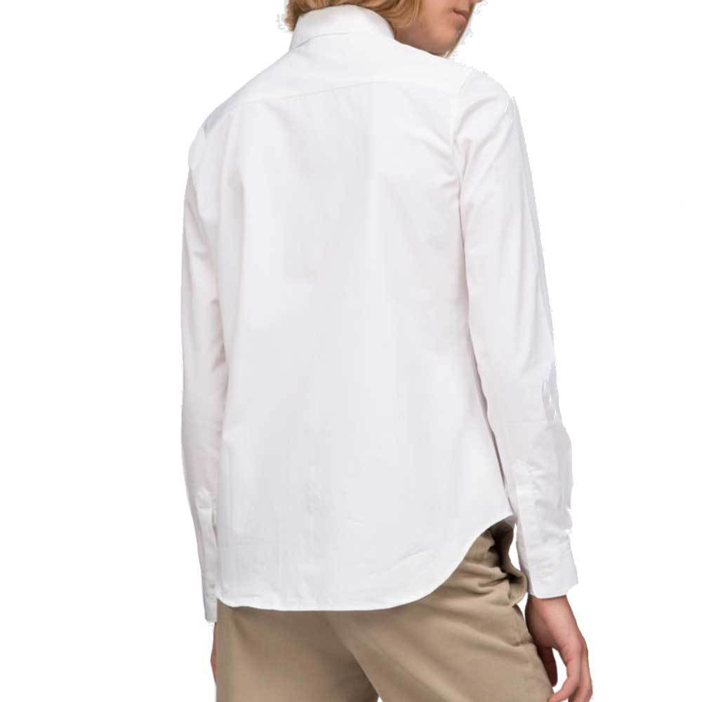 Aspesi Long Sleeve Poplin Button Down White Shirt Tops Alberto Aspesi