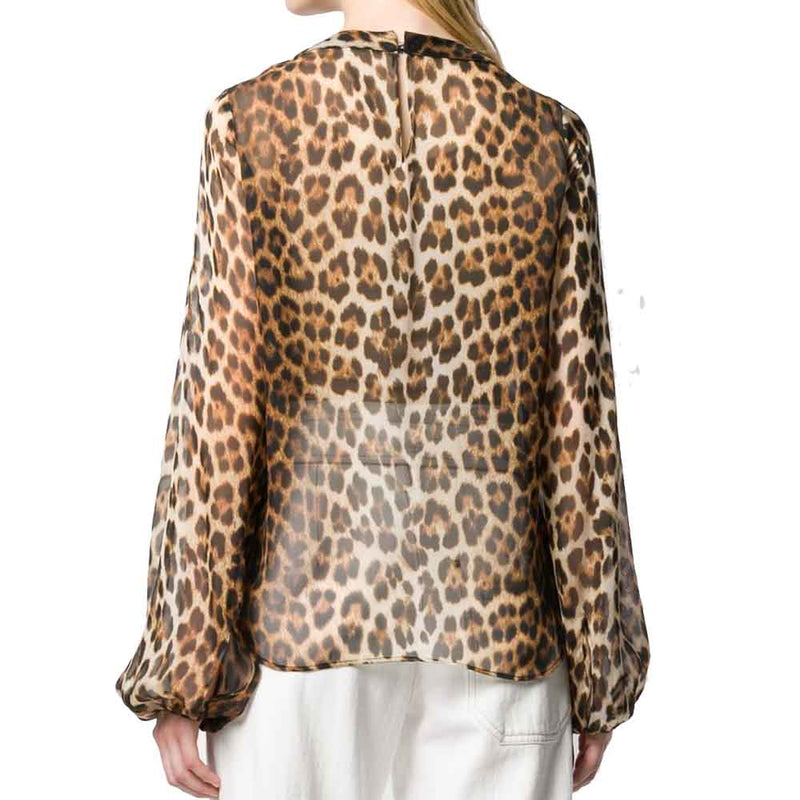 No. 21 Animal Print Blouse