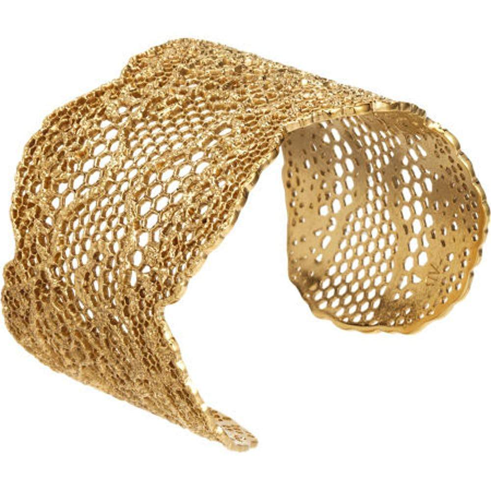 Aurélie Bidermann Lace Gold Cuff Bracelet Jewelry Aurelie Bidermann