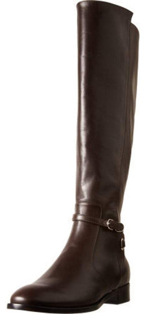 Balenciaga Papier Leather Buckled Knee High Riding Boot Boots Balenciaga