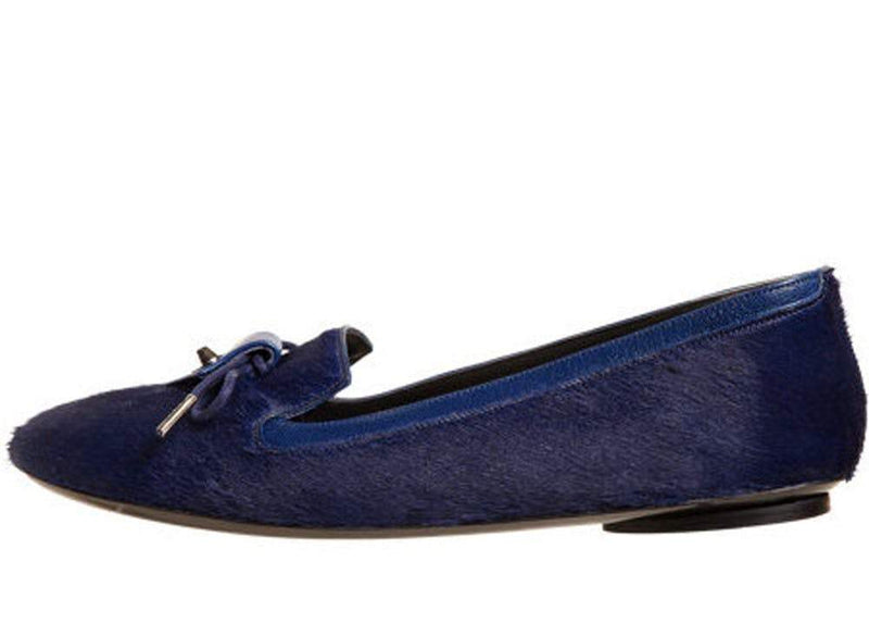Balenciaga Arena Bleu Dragee Leather Wedge Open Toe Pump