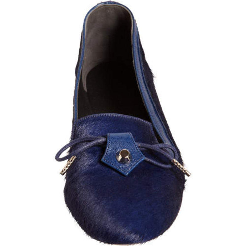 Balenciaga Arena Classic Navy Blue Pony Hair Flat Slipper Shoes Balenciaga