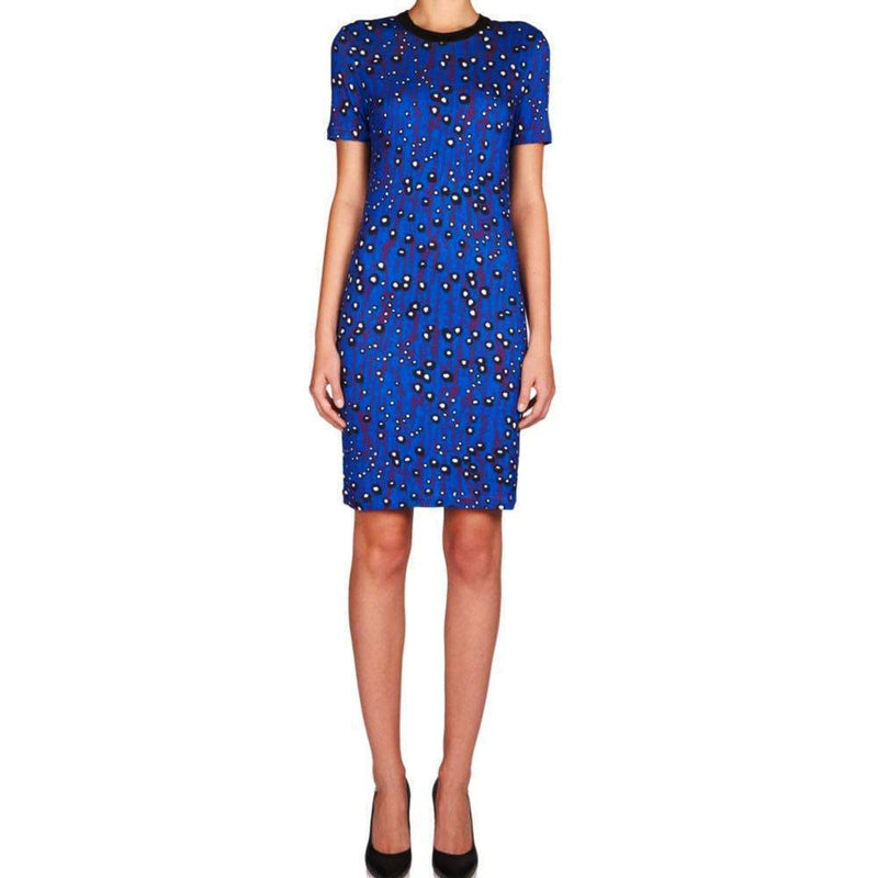 Carven Violet Print Knit Dress Dress Carven