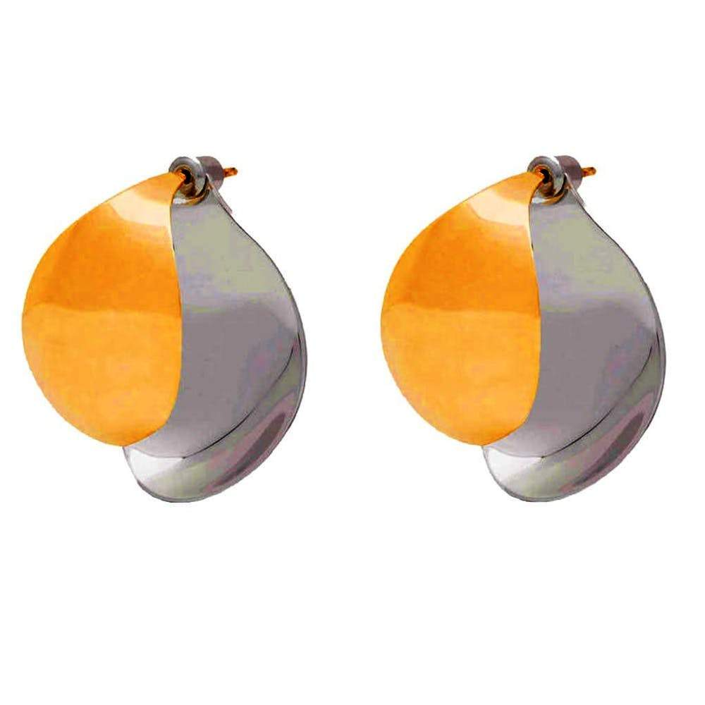 Charlotte Chesnais Petal Silver and Gold Plated Earrings Jewelry Gold and Silver / Small Charlotte Chesnais Charlotte Chesnais designer jewelry earrings French Jewelry gold gold and silver jewelry Petal Earrings Silver $725.00 GordonStuart.com