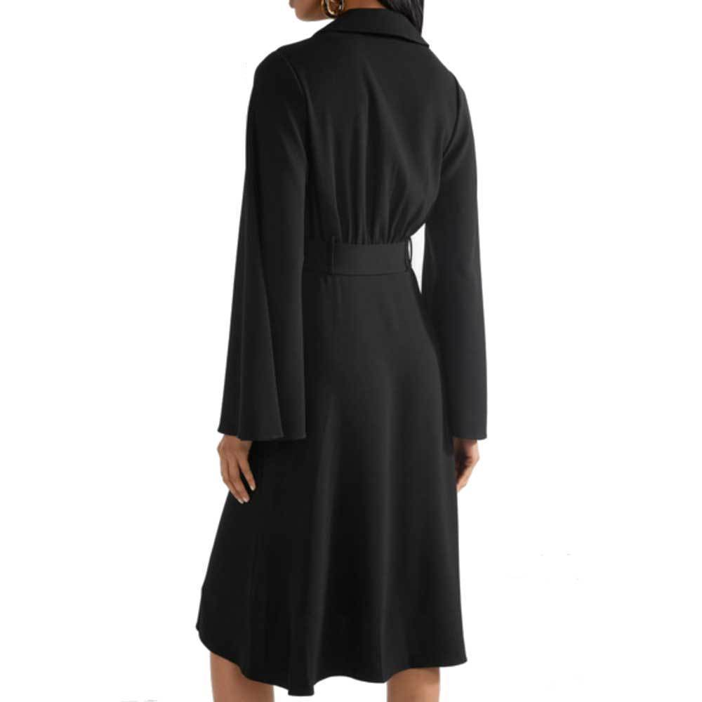 Co Collection Black Belted Shirtdress Dress Co Collection