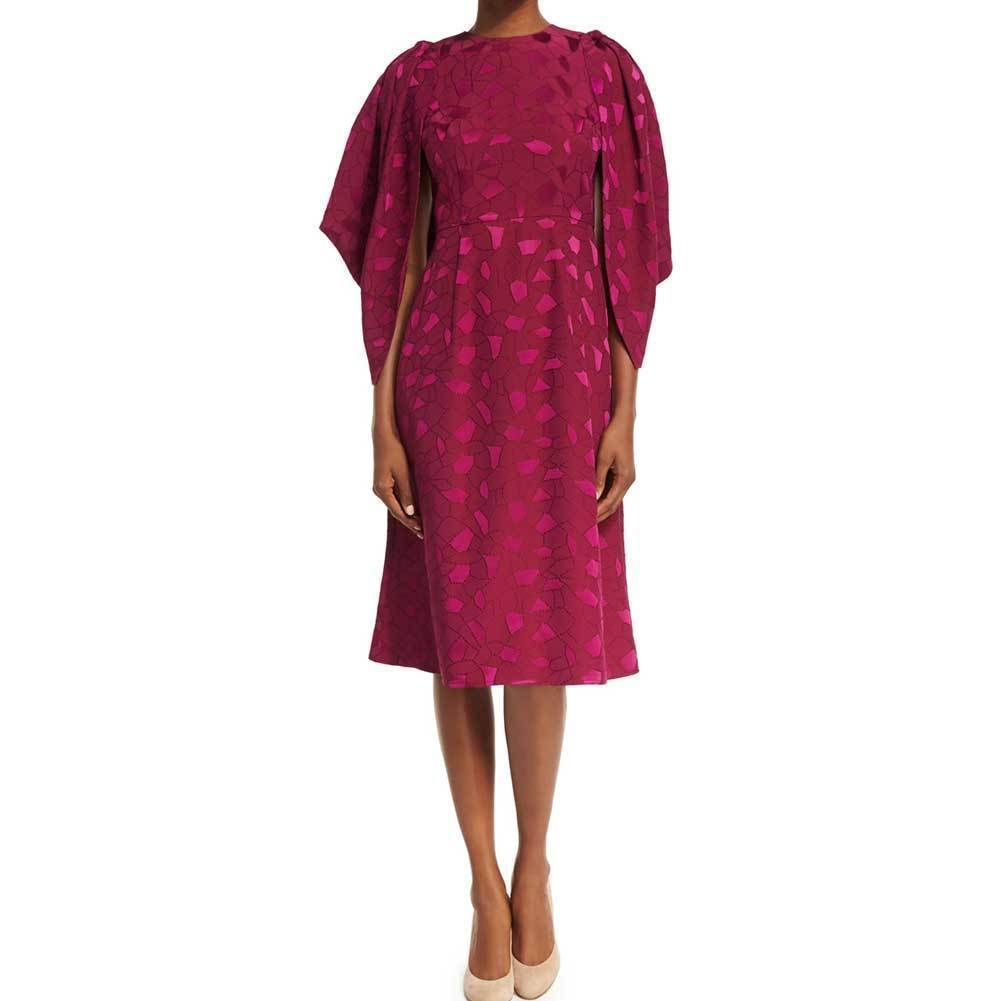 Co Collection Cocoon-Sleeve Mosaic Jacquard Midi Dress Dress Co Collection