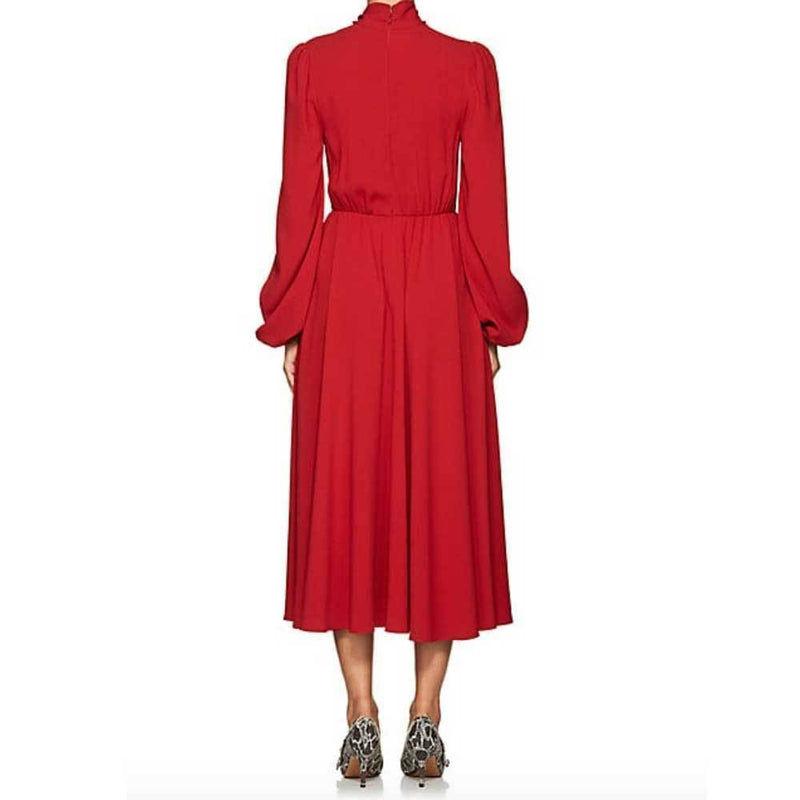 Co Collection Tie-Neck Crepe Belted Midi Dress Dress Co Collection
