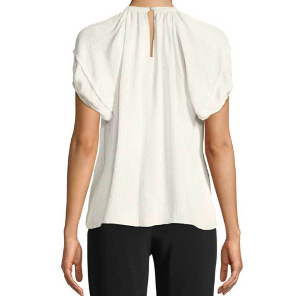 Co Collection Cloque Short Sleeve Top Sweater Co Collection