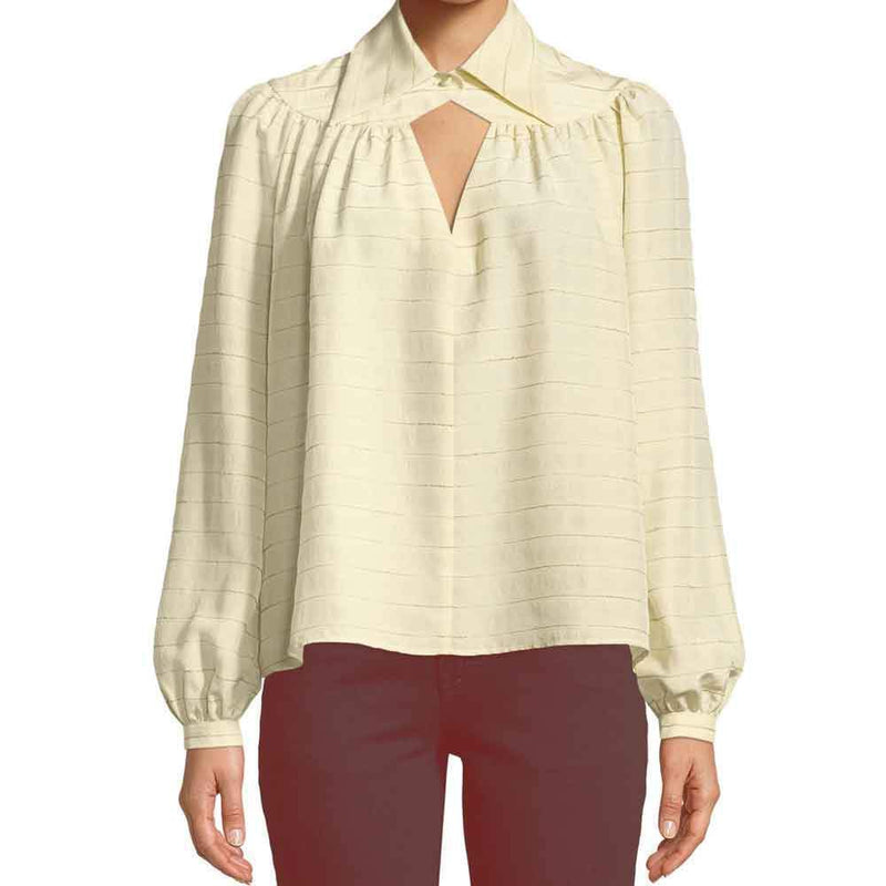 Co Collection Flounced Collar Ivory Blouse