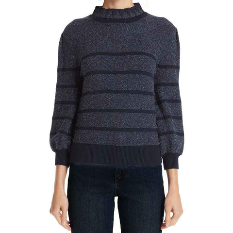Co Collection Sweater S / Red CO Metallic Stripe Wool & Cashmere Sweater