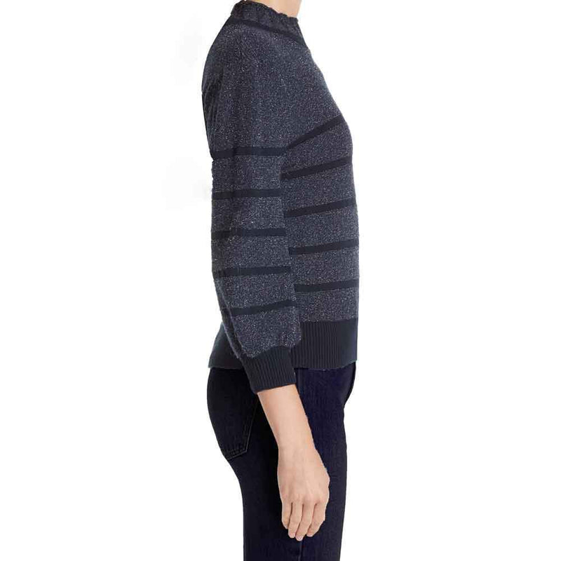 CO Metallic Stripe Wool & Cashmere Sweater Sweater Co Collection