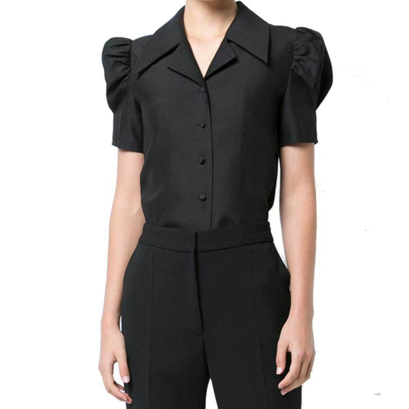 Co Collection Bubble Sleeve Black Shirt Tops Co Collection