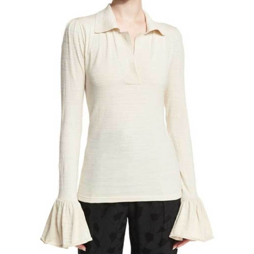 Co Collection Flared Cuff Polo Top Tops Co Collection