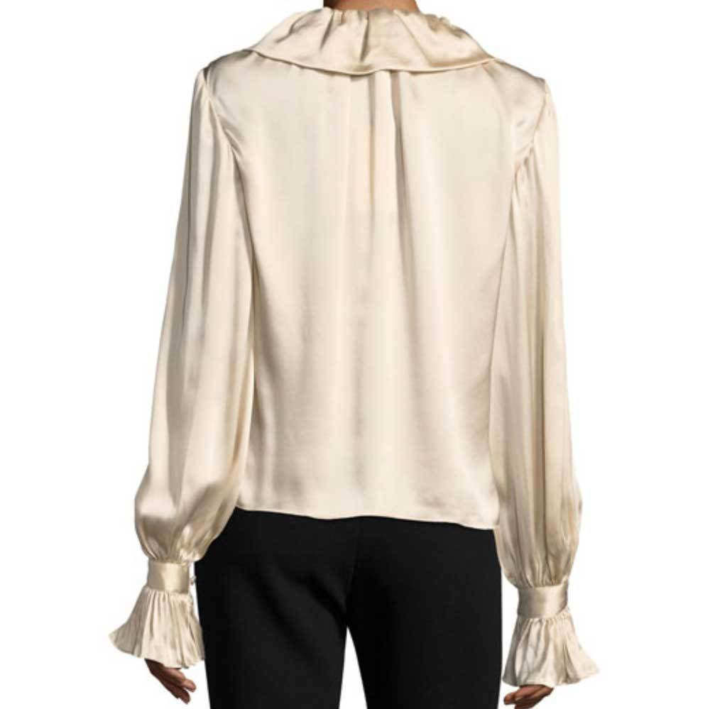 Co Collection Flounced Collar Ivory Blouse Tops Co Collection