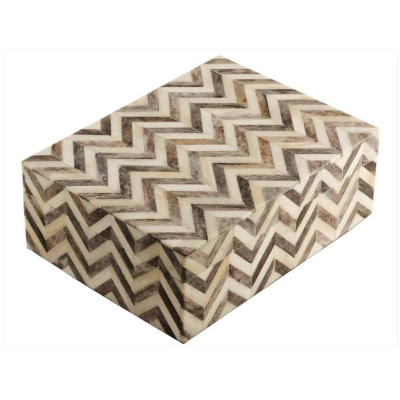 Eccolo Chevron Tile Gray Medium Box Gifts Eccolo Ltd
