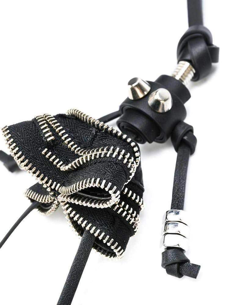 Elena Ghisellini Black Zipper Doll Keyring Accessories Elena Ghisellini