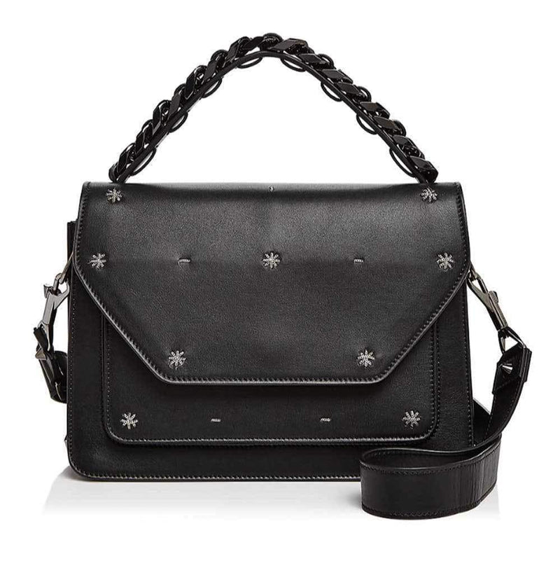 Rag & Bone Black Pilot Satchel