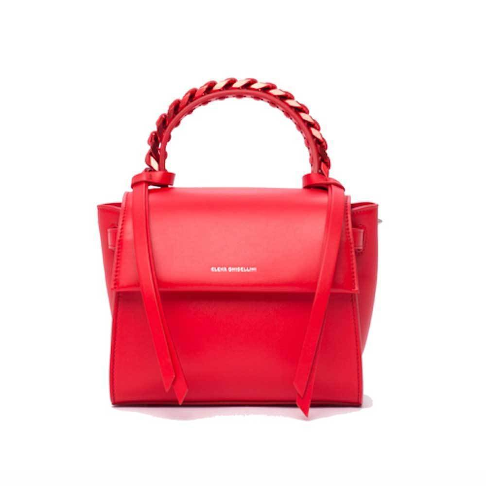 Elena Ghisellini Angel Sensua Red Top Handle Handbag Handbag Elena Ghisellini