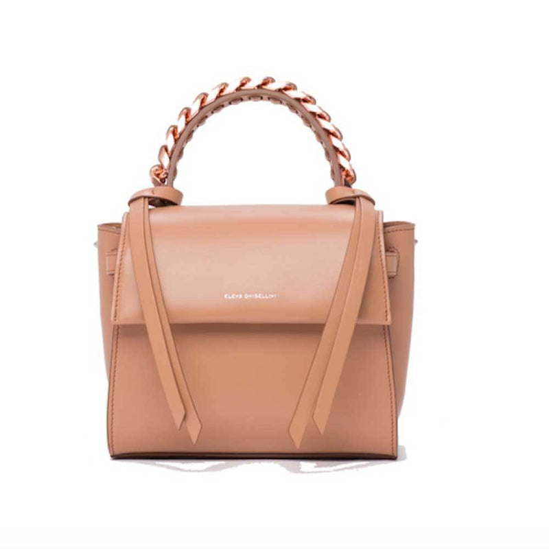 Elena Ghisellini S Angel Game Tan Leather Top Handle Handbag