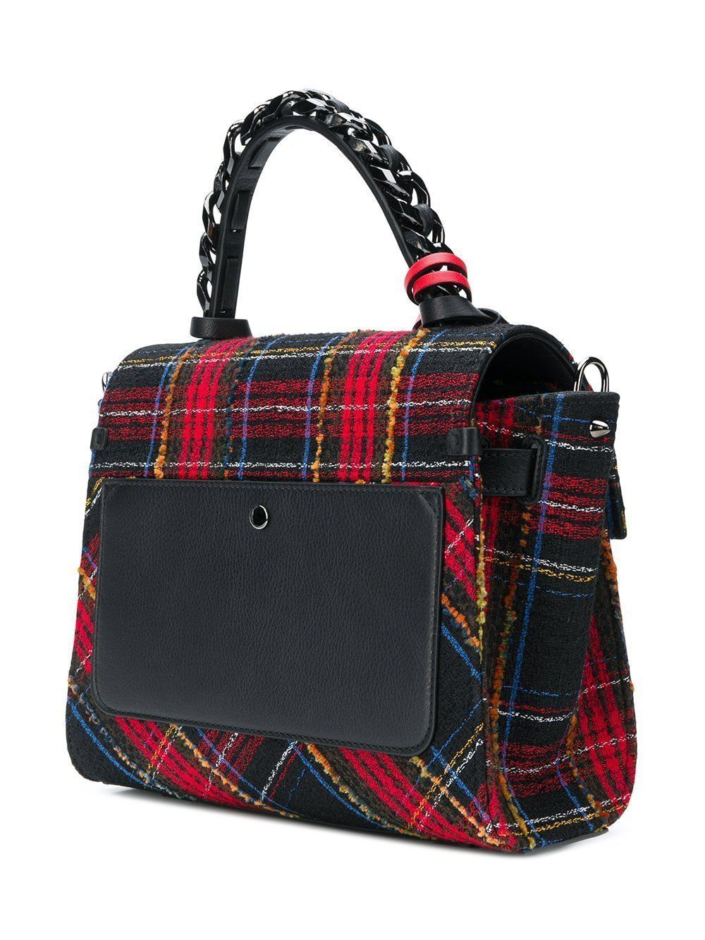 Elena Ghisellini S Angel Plaid Top Handle Handbag Handbag Elena Ghisellini