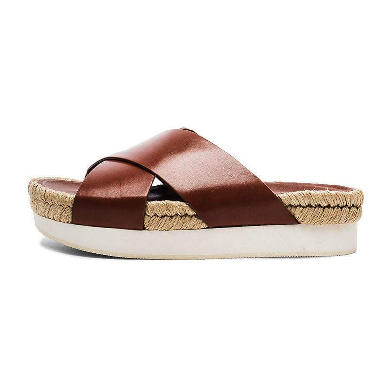 Flamingos Delano Cognac Leather Sandal Shoes Flamingos