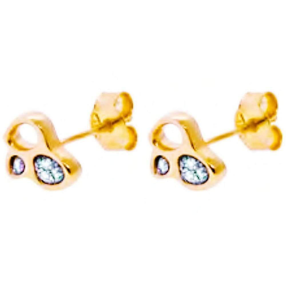 Flowen Aoda Gold Studs With Ice Diamonds Jewelry Flowen