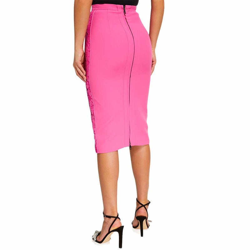 No. 21 Lace-Front Pencil Skirt