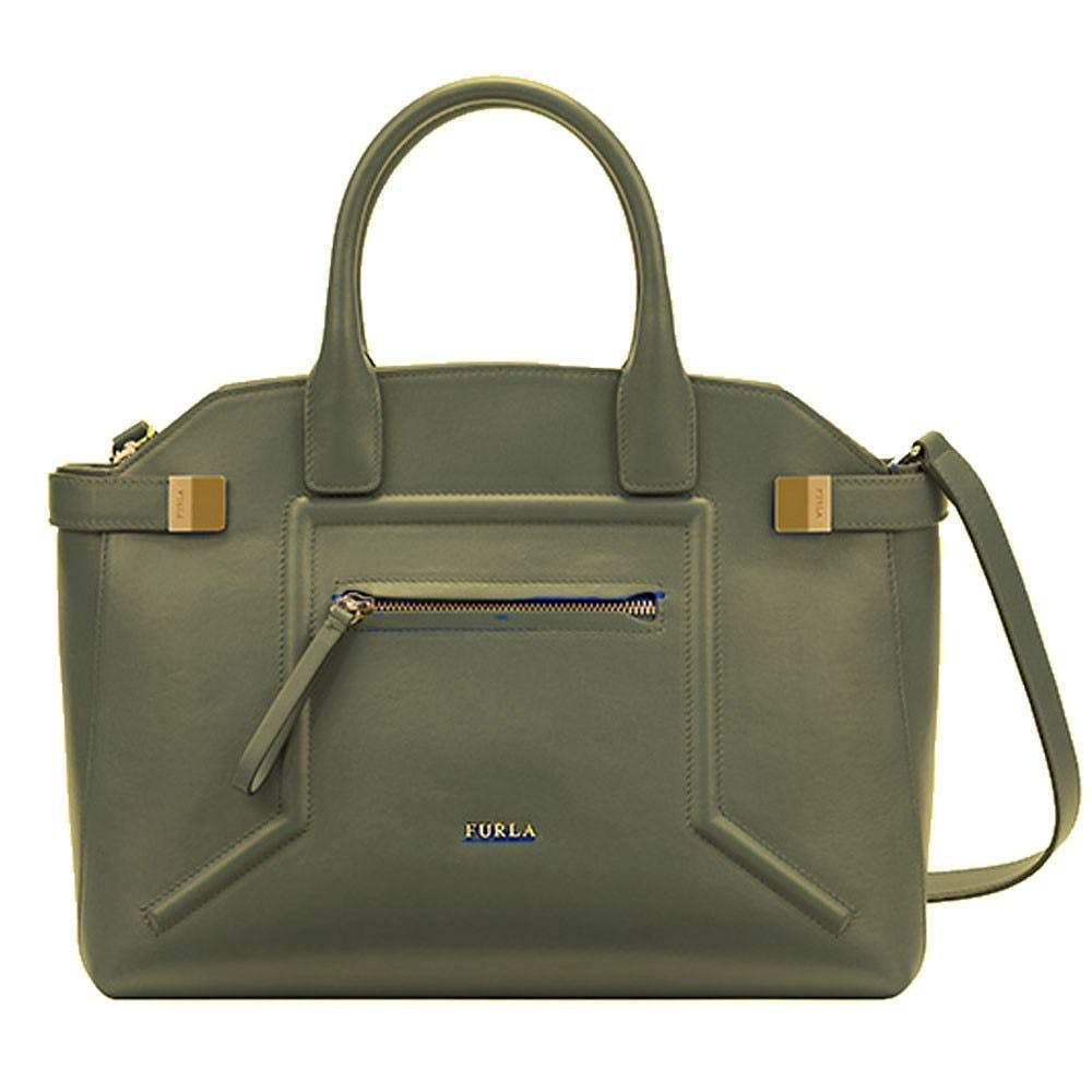 Furla Alice Top Handle Sage Leather Handbag Handbag Furla