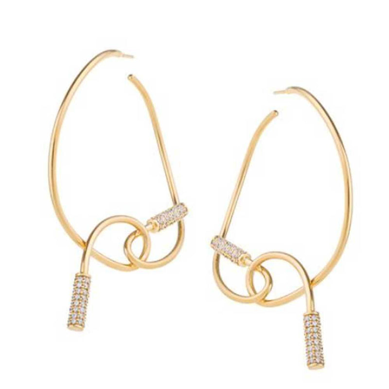 Joanna Laura Constantine Knot Hoop Earrings Jewelry Joanna Laura Constantine