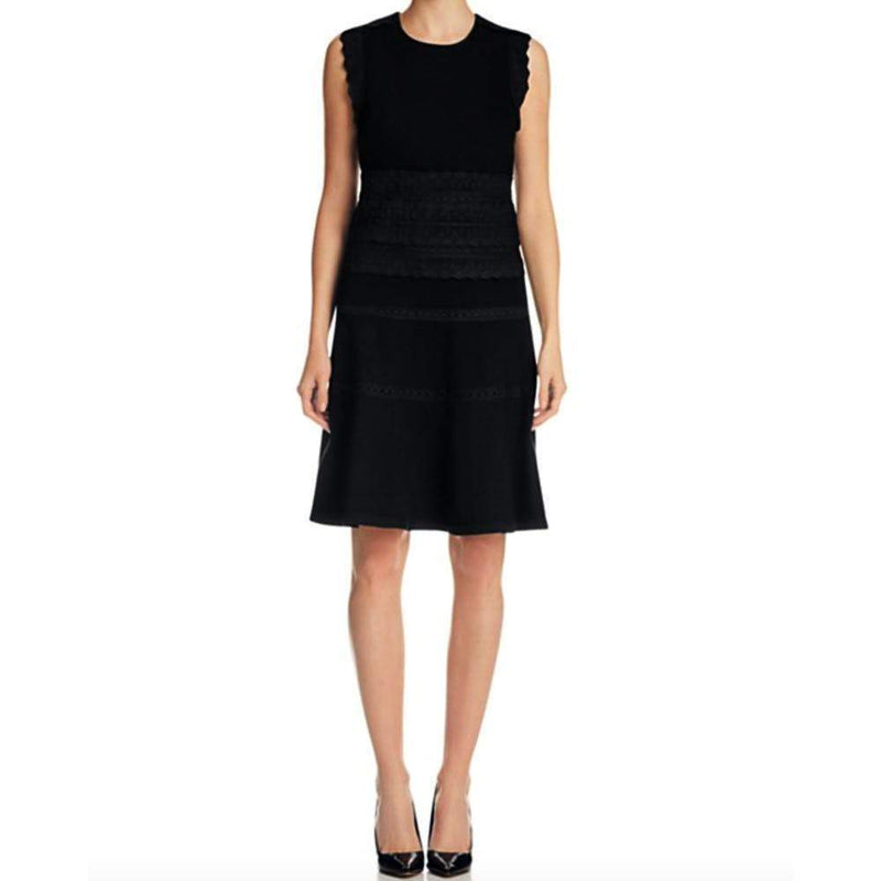 Kobi Halperin Loren Knit Black Lace Trim Dress Dress Kobi Halperin