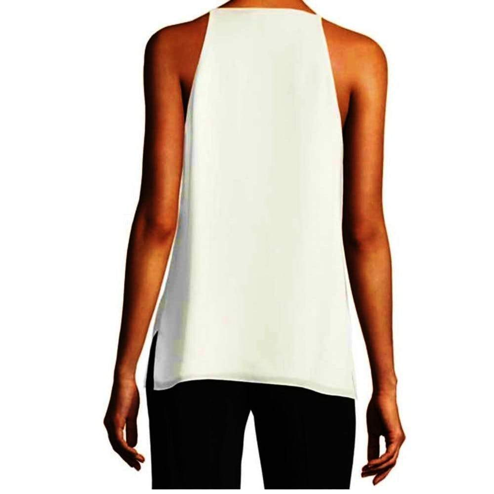 Kobi Halperin Kallista White Blouse Tops S / White Kobi Halperin Fashion Kallista Blouse Kallista Top Kobi Halperin Kobi Halperin Adrienne Blouse silk Silk Blouse Silk Top Sleeveless Top Style V-Neck White Top $198.00 GordonStuart.com