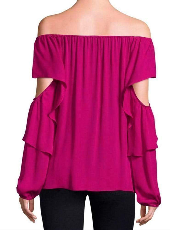 Kobi Halperin Wiley Pink Off The Shoulder Blouse Tops M / Pink Kobi Halperin Blake Blouse Fashion Kobi Halperin Kobi Halperin Silk Blouse Long Sleeve Longsleeve off the shoulder Off the Shoulder Off the Shoulder Blouse Off the Shoulder Top STYLE Top $328.00 GordonStuart.com