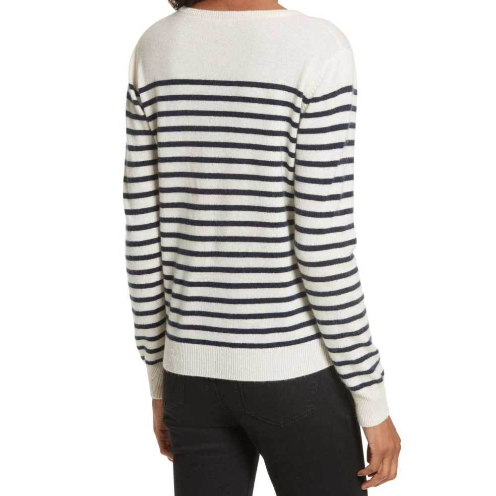 Kule Sophie Cream Navy Stripe Sweater Sweater Kule