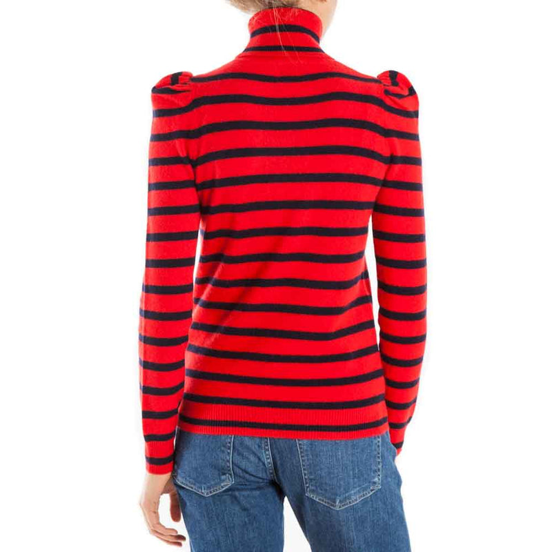 Madeleine Thompson Pinocchio Striped Turtleneck Sweater