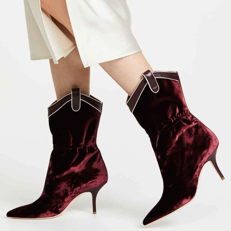 Malone Souliers by Roy Luwolt Daisy Velvet Boots Boots Malone Souliers