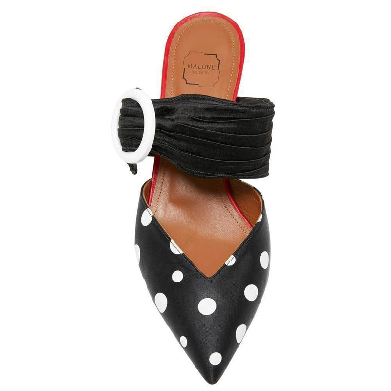 Malone Souliers X Emanuel Ungaro Maisie Polka-Dot Mules Shoes Malone Souliers