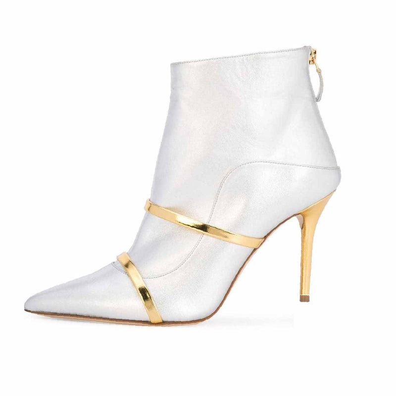 Rag & Bone Aslen Off-White Patent Leather Ankle Boot